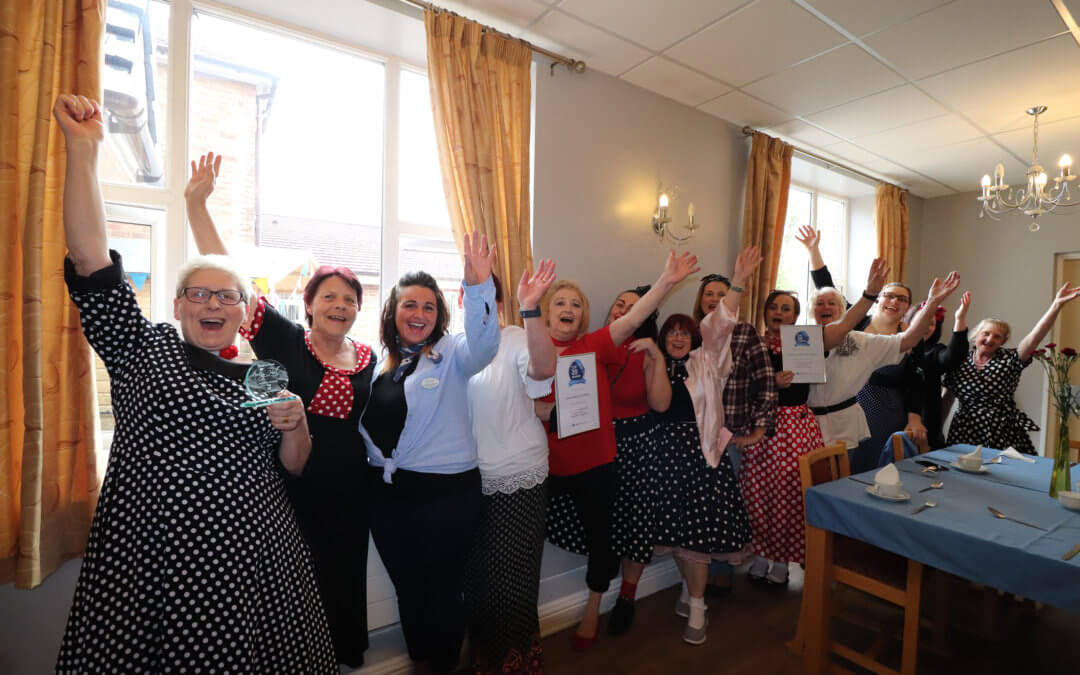 Norley Hall care home receive Top 20 award and celebrate in style with 1950's party!
