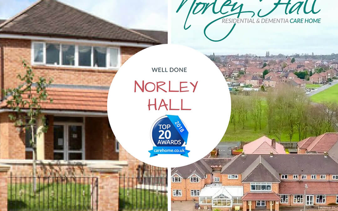 Norley Hall care home receive TOP 20 CARE award for the second year