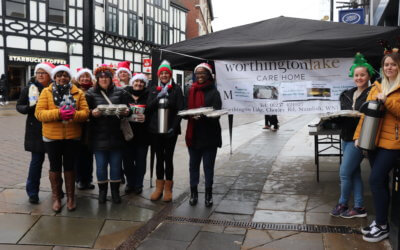 Worthington Lake spread Christmas Cheer by handing out Hot drinks and Mince Pies to the homeless of Wigan