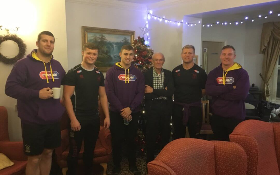 Wigan Warrior spread Christmas cheer all around Norley Hall care home Wigan