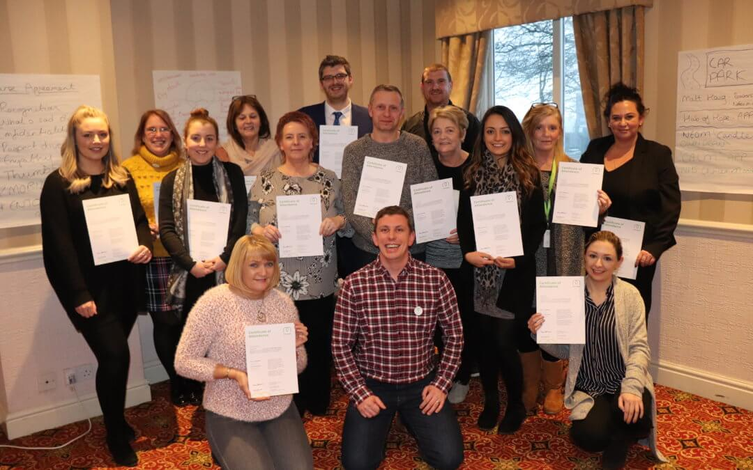 Millennium care leaders train as first aiders on a two-day intensive course to help look after the health and wellbeing of staff.