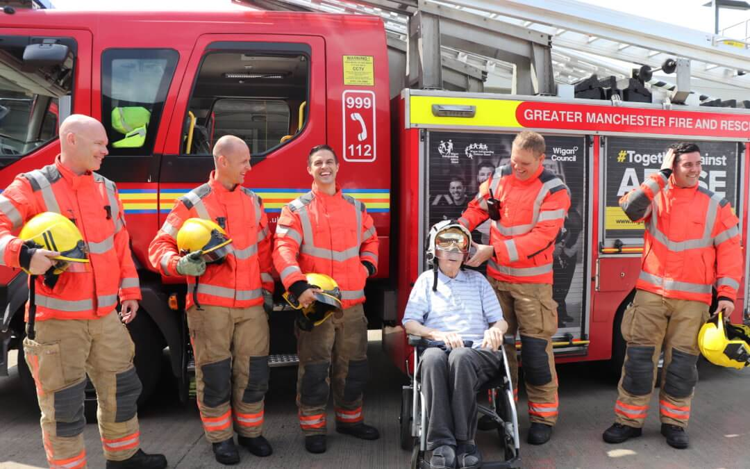 Retired Assistant Chief Fire officer 86 year old Bernard goes back to work for the day