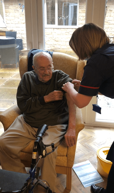 The beginning of the end as Lakeside care home residents receive vaccination